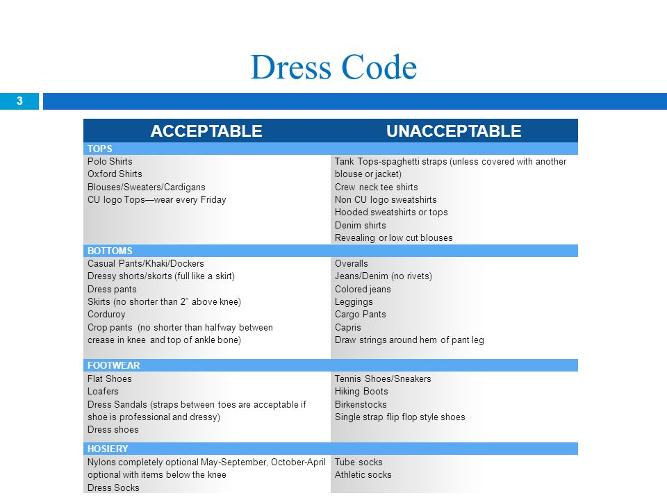accenture business casual dress code guidelines
