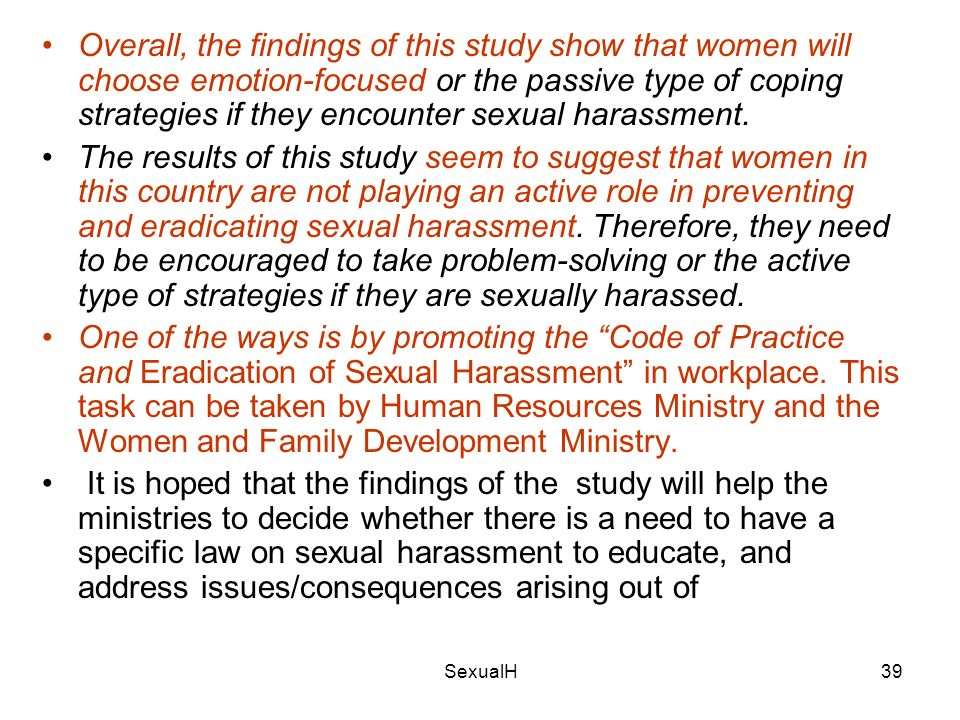 Legal ramifications of sexual harassment