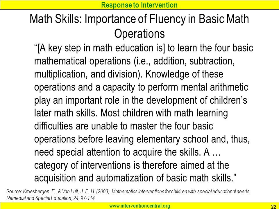 basic mental operations Basic mathematics skills basic mathematics, pre-algebra, geometry, statistics, and algebra skills are what this website will teach you it is designed for anyone who needs a basic to advanced understanding of mathematics concepts and operations.