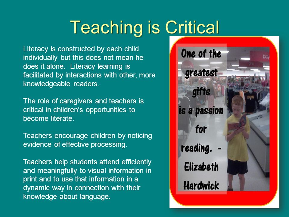 Teaching is Critical
