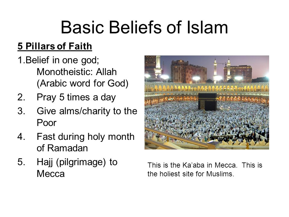 Basic Beliefs of Islam 5 Pillars of Faith