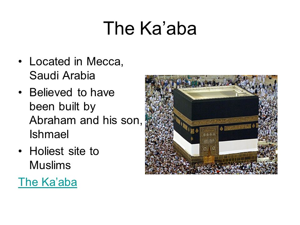 The Ka'aba Located in Mecca, Saudi Arabia