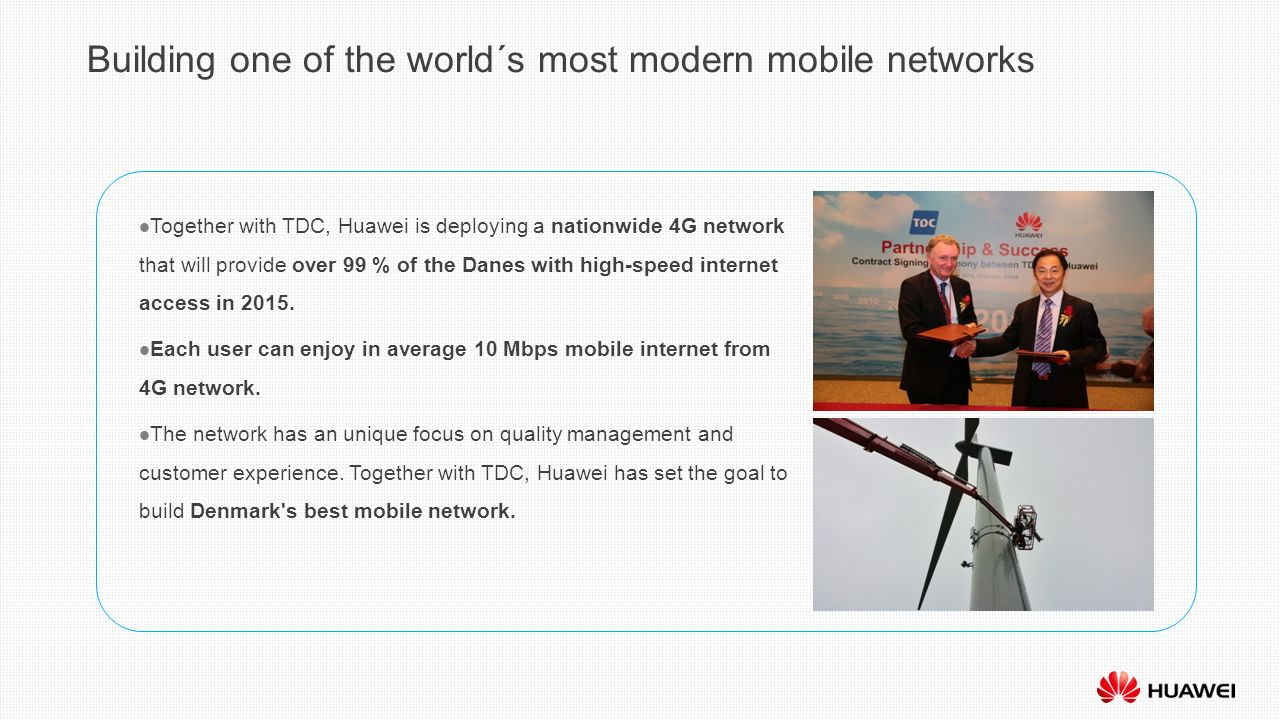 Huawei Technologies Enriching life through communication ...