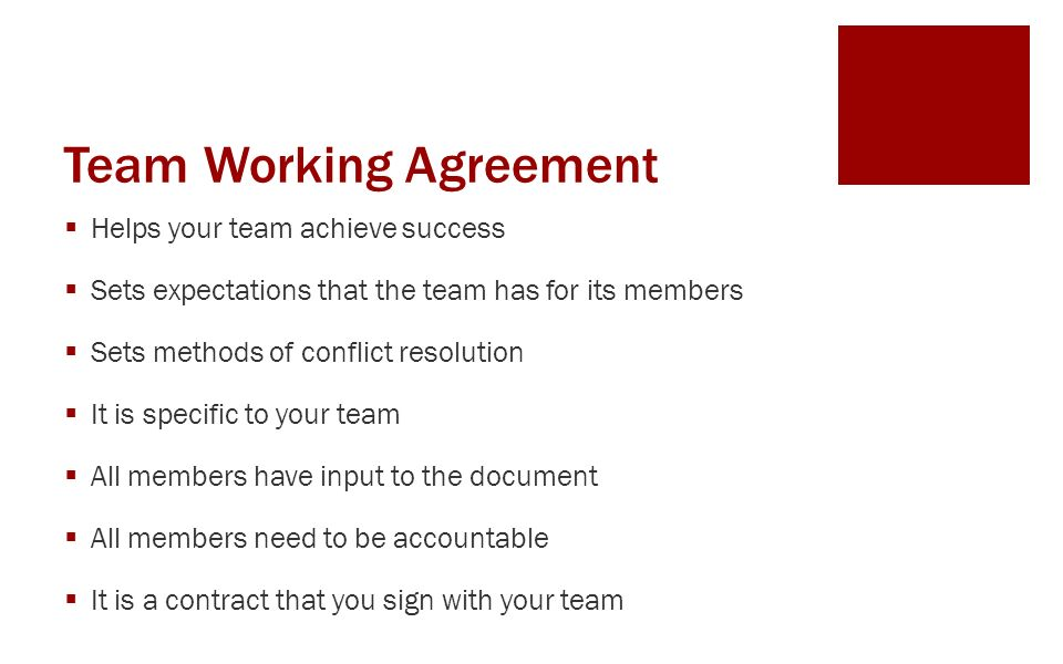 Teamwork and problem solving ppt video online download team working agreement platinumwayz