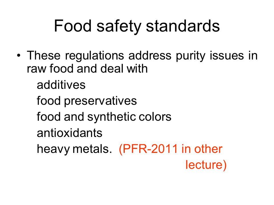 food safety legislation in pakistan identifying Food safety in pakistan lebanon, oman, pakistan, sudan and uae have drafted new food legislation according to international requirements iran and syria.