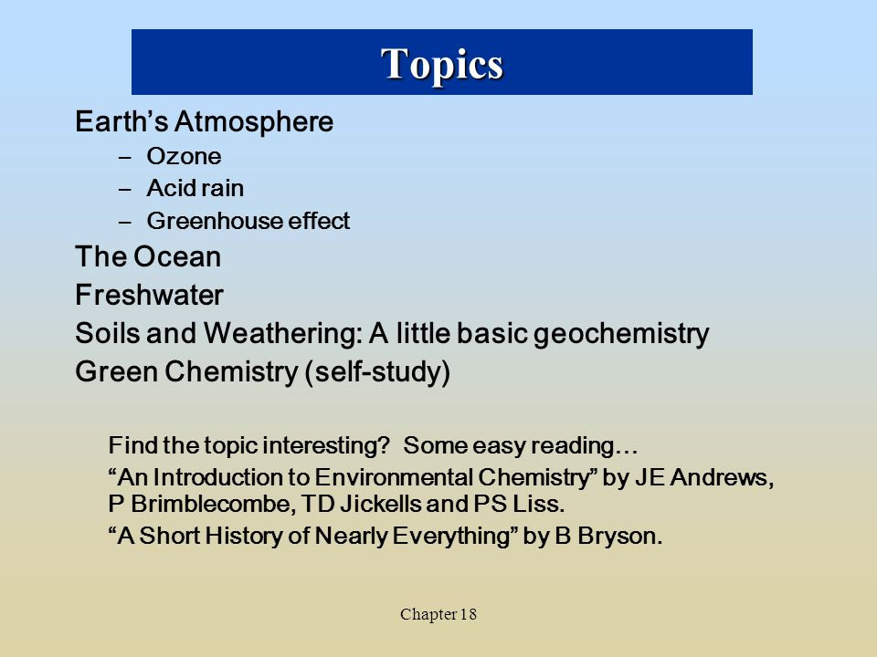 chapter chemistry of the environment ppt video online 3 topics