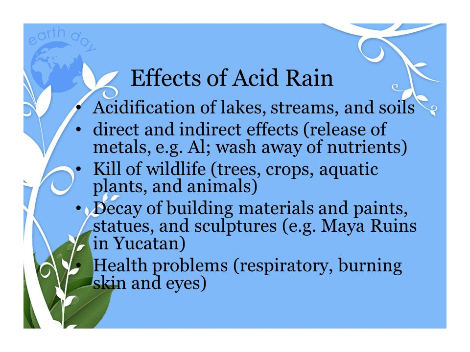 the effect of acid rain on building materials essay I was led to attribute this effect to the slow but constant action of acid rain buildings have always  the interactions between building materials and pollutants .