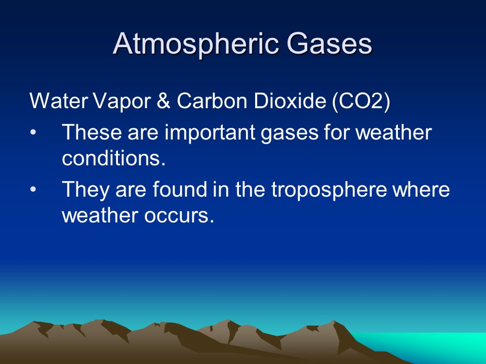 Atmospheric Gases Water Vapor & Carbon Dioxide (CO2)