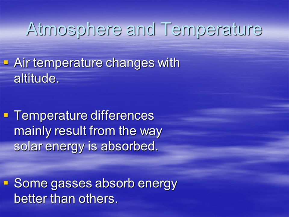 Atmosphere and Temperature