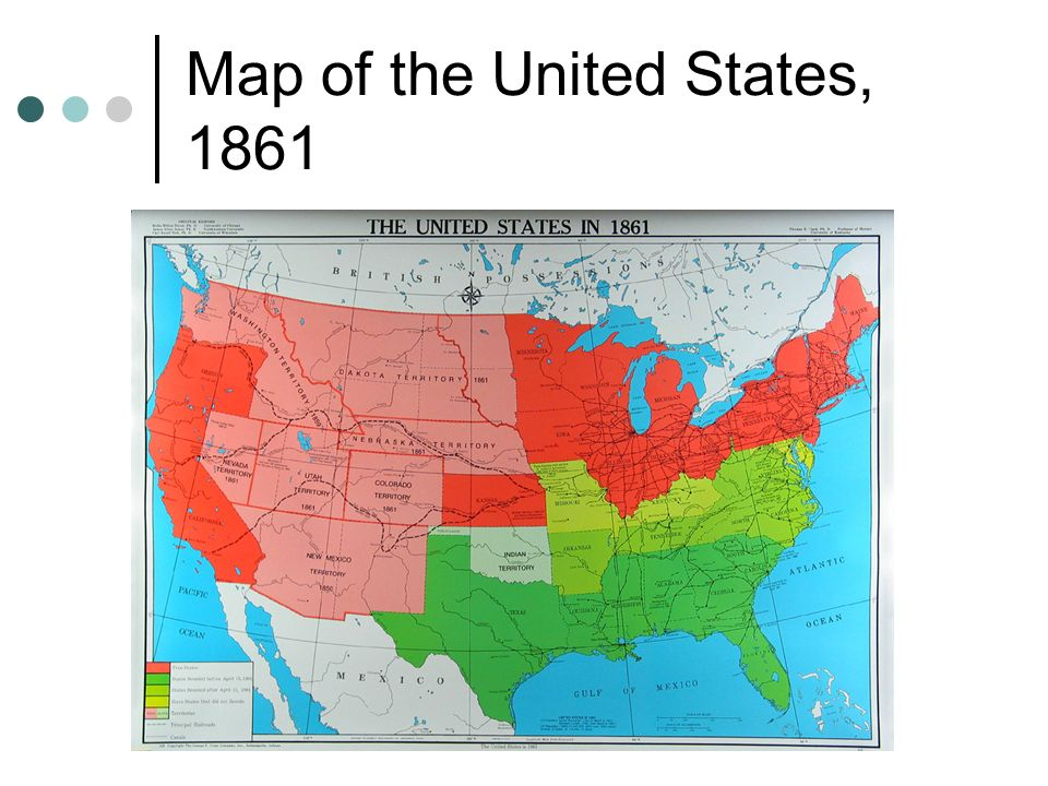 5 Map Of The United States 1861