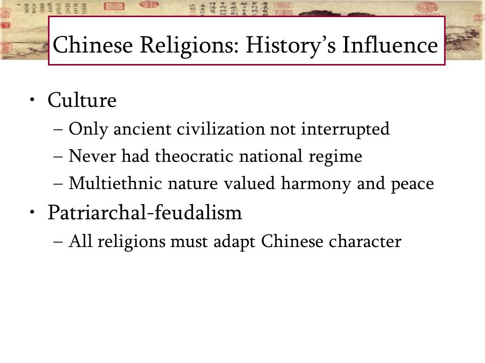 the impact of religion on the english and chinese civilizations China's economic development and cultural renaissance in the far-reaching impact defined chinese civilization as yellow civilization and western.