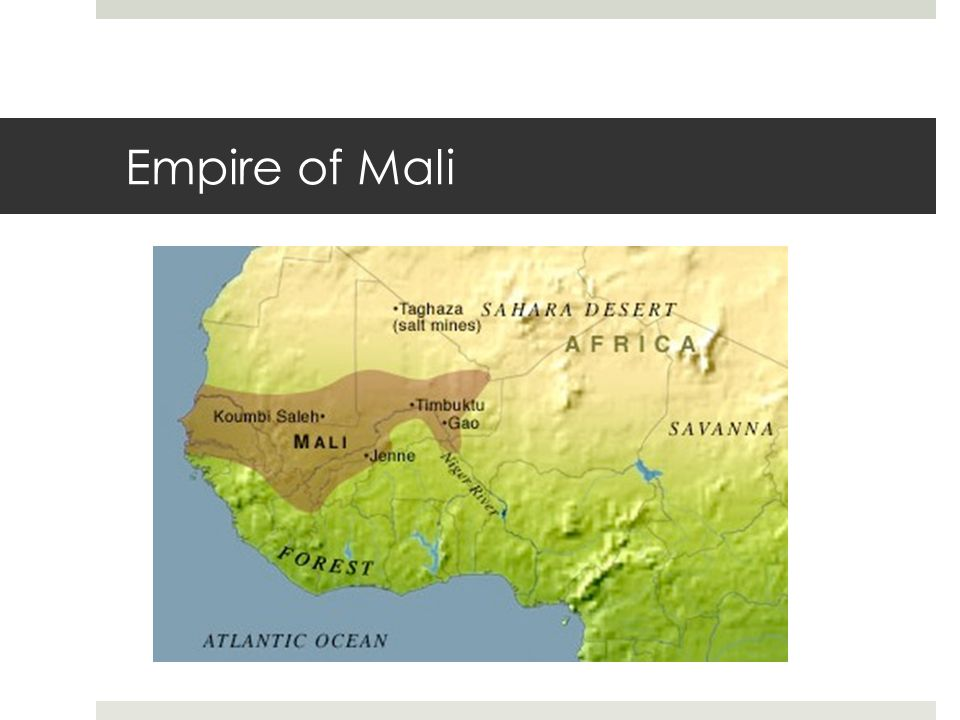 the empire of mali Sundiata is about the history of an empire, mali about legendary first rulerwhen sindiata was a boy, a conqueror captured mali and killed sundiata's father and 11 brothershe didn't kill sundiata because the was sick and didn't seem like threat.