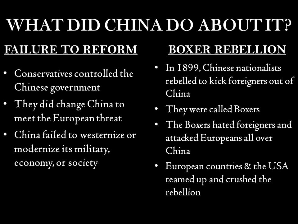 the causes and impact of the chinese boxer rebellion in the 1900s Following the boxer rebellion 1 of 1900, (ridding china of all foreigners, massacring all missionaries and christian converts), china's citizens experienced starvation, extreme poverty, and grief resulting in the loss of many innocent lives this set the stage for the acceptance of men like zedong and the godless communistic philosophies of .