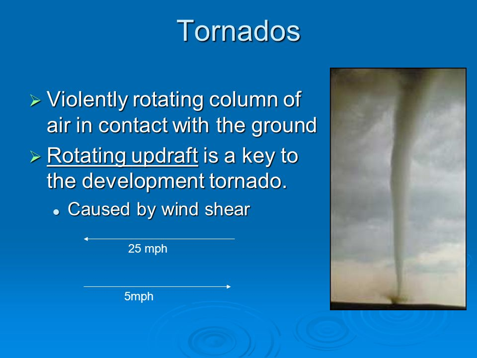 a definition of a tornado a violently rotating column According to the glossary of meteorology (ams 2000), a tornado is a violently rotating column of air but landspouts are tornadoes by definition.