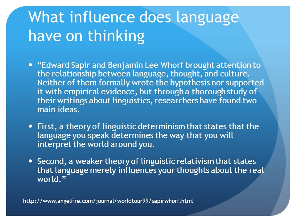 language culture and thought relationship