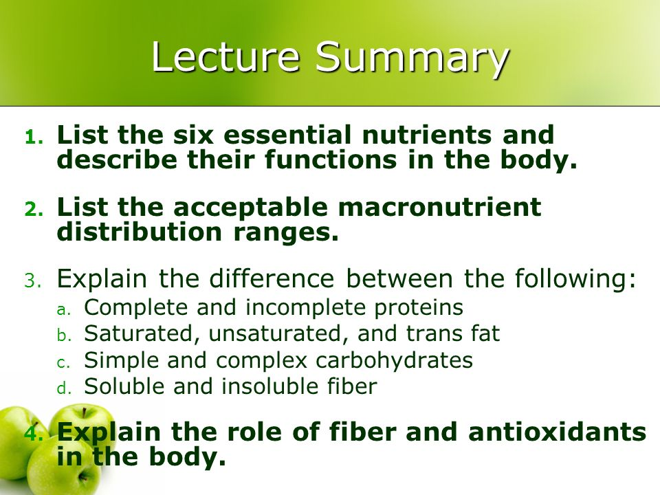 Nutrition Chapter ppt download