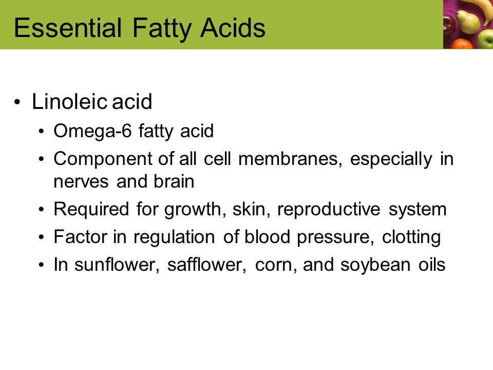 fatty acids are needed for growth essay Free college essay a balanced diet  because much smaller quantities are needed for a balanced diet  and phospholipids are made from glycerol and fatty acids.