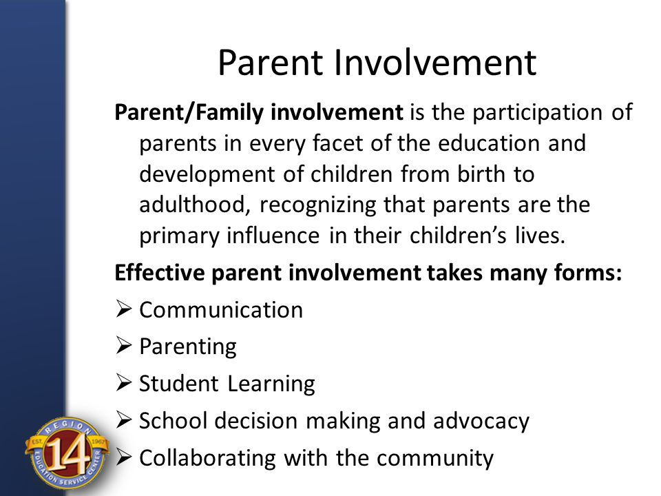 parent involvement in education How can the answer be improved.