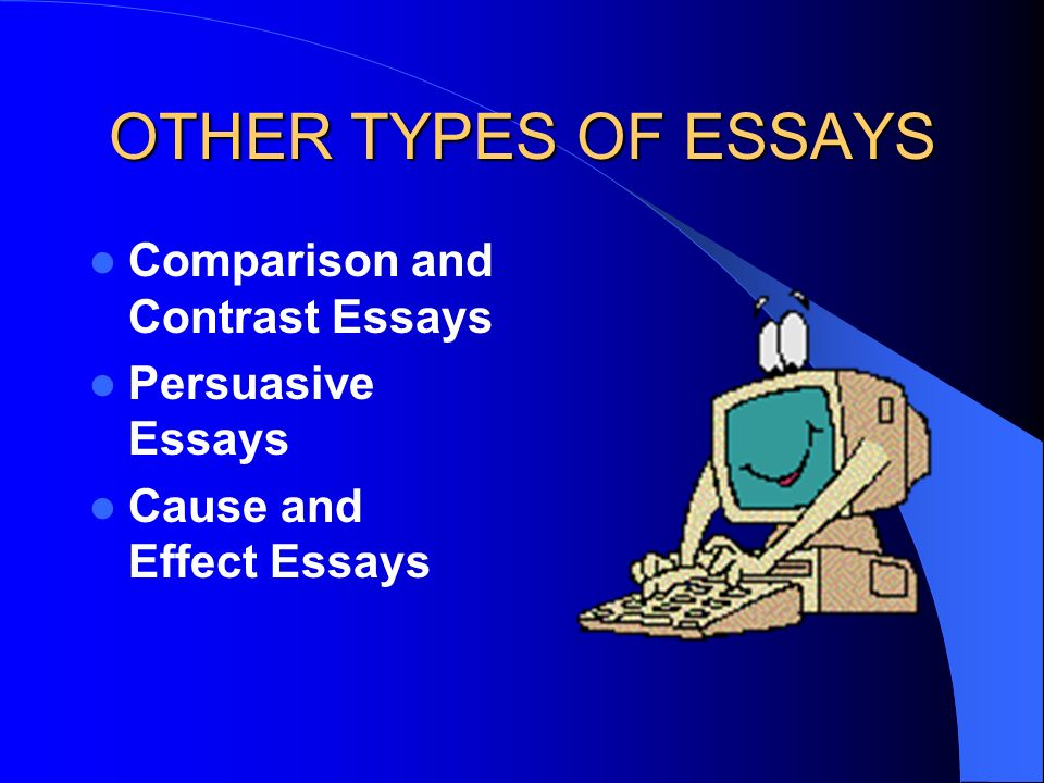 OTHER TYPES OF ESSAYS Comparison and Contrast Essays Persuasive Essays