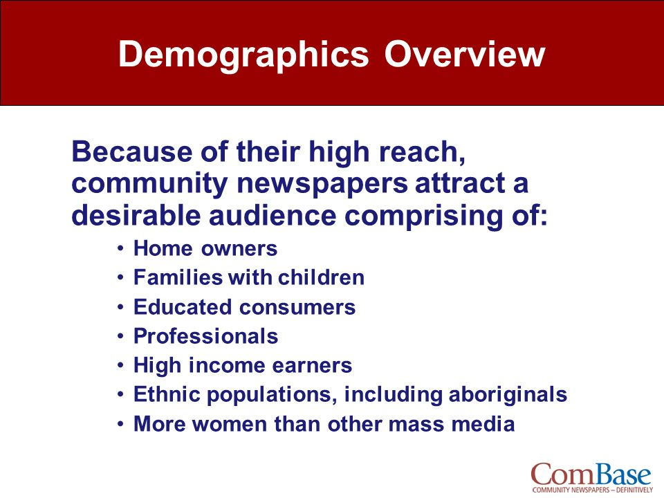 Demographics Overview