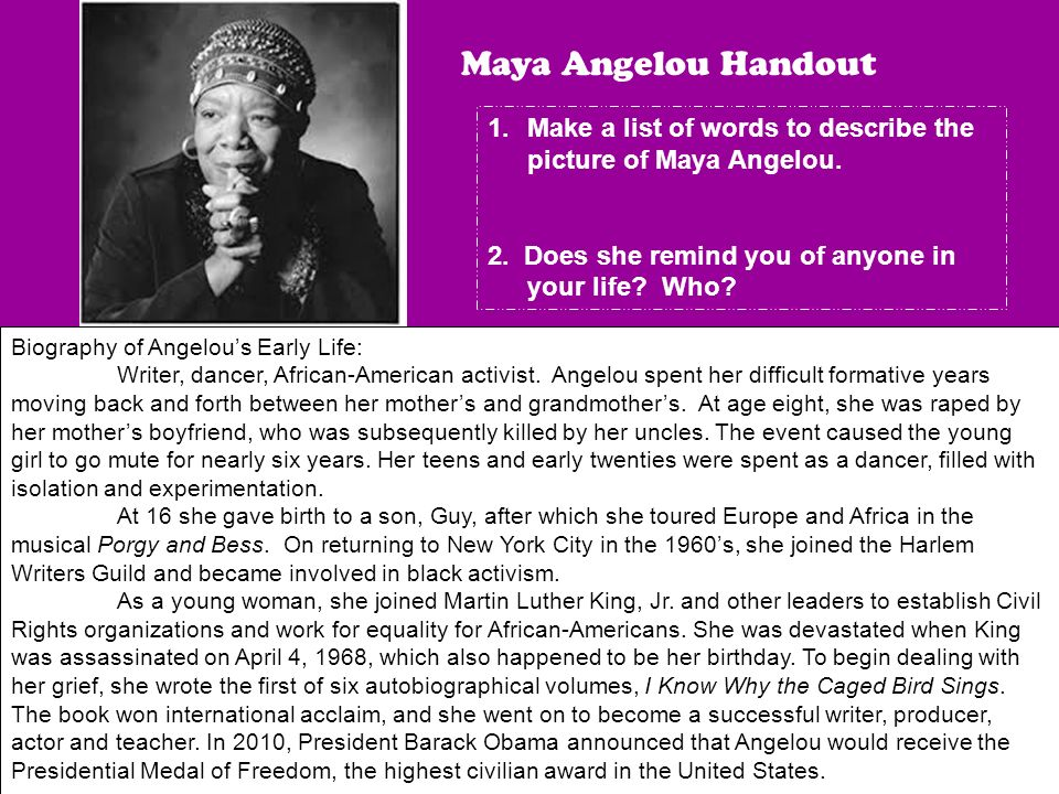 overcoming defeats in the book i know why the caged bird sings by maya angelou Get an answer for 'what adversity did maya angelou and bailey faced in i know why the caged bird sings' and find homework help for other i know why the caged bird sings questions at enotes.