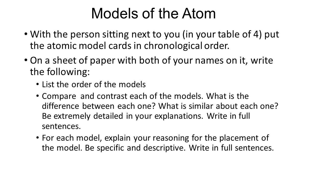 unit 3 history of the atomic model essay