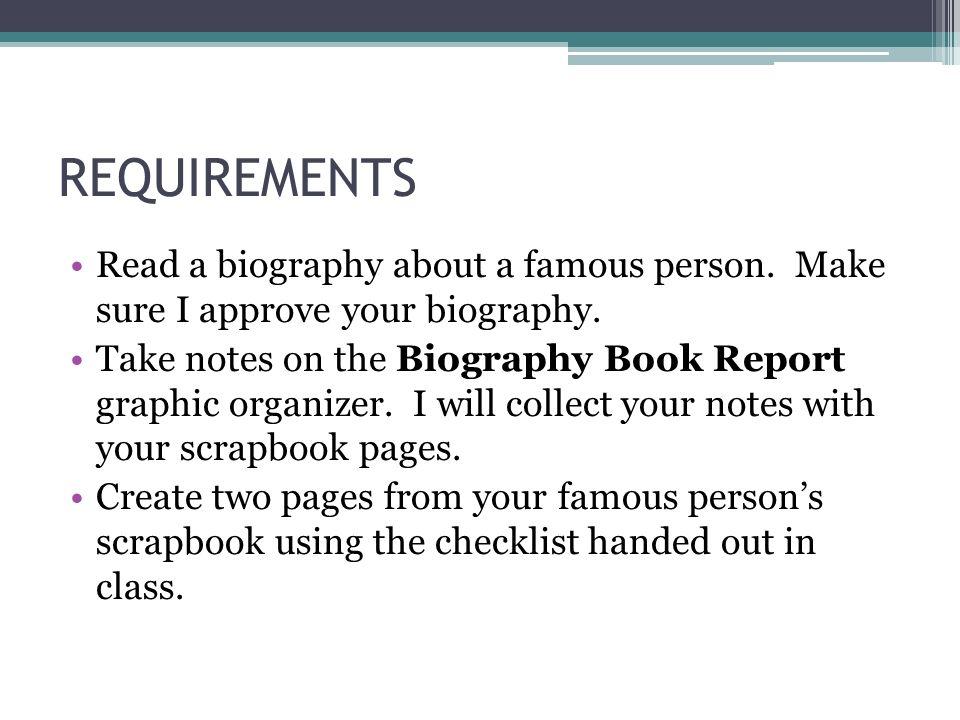 Book report biography
