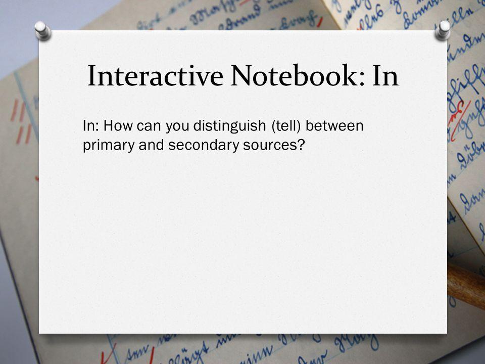 Interactive Notebook: In