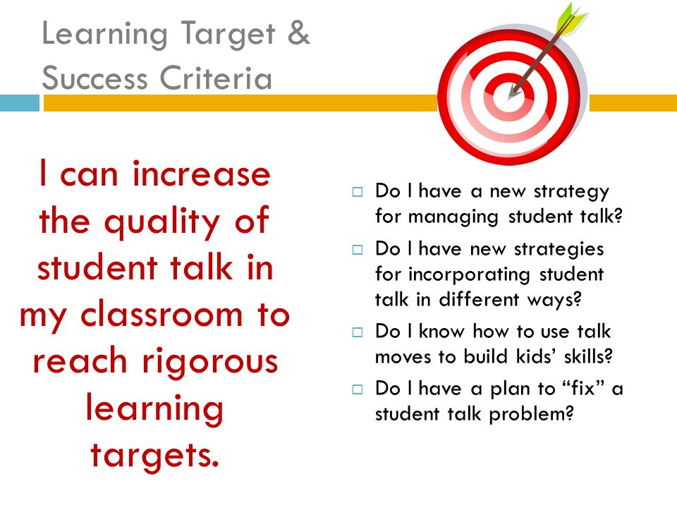 Learning Target & Success Criteria