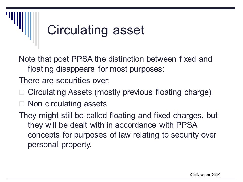 fixed and floating charges secured and [clarification needed] this conversion of the floating charge into a fixed charge  practice became such that companies were asked to give lightweight floating charges to secured lenders which had no collateral value purely to allow the holders to block administration orders,.