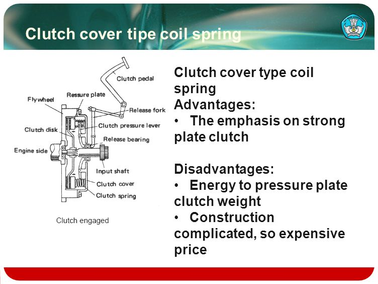 Clutch cover tipe coil spring