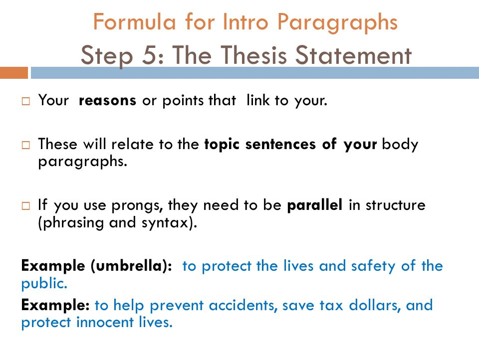 thesis paragraph examples Introduction: