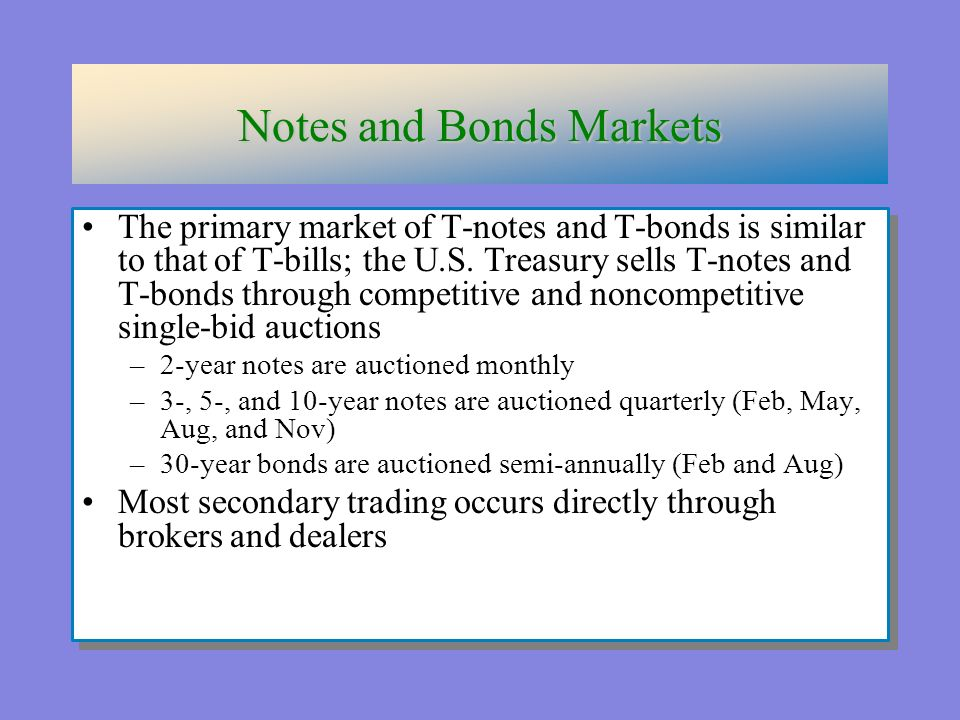 the definition of treasury notes and bonds Brokerage firms purchase treasury securities through the means of book-entry  receipts that is, the treasury records the firm's ownership of the bonds or notes,.