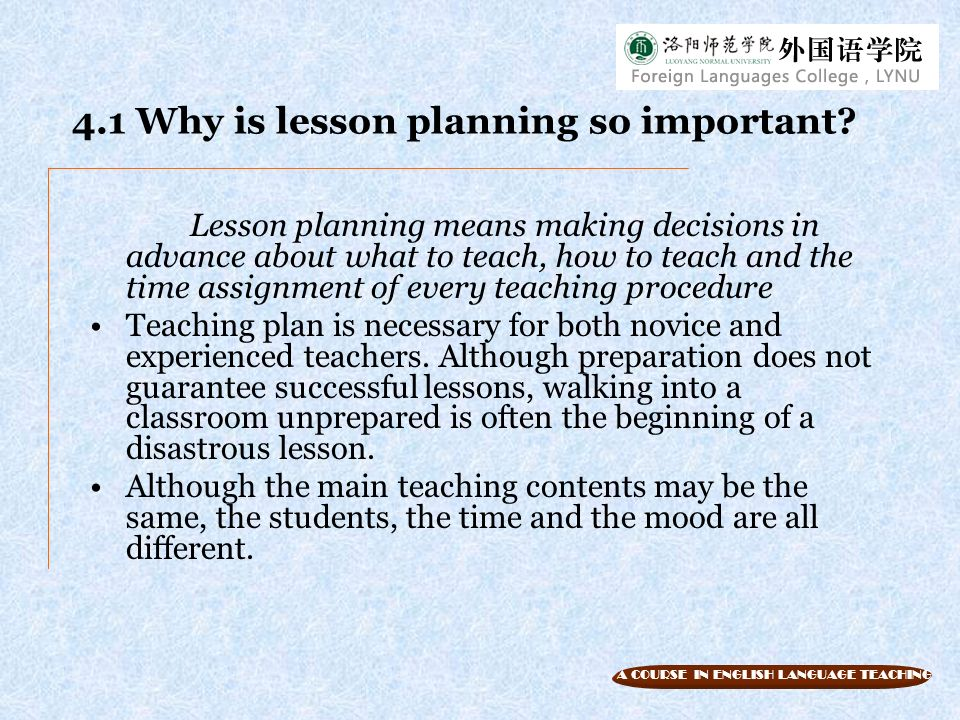 Unit  Lesson Planning Objectives  Ppt Download