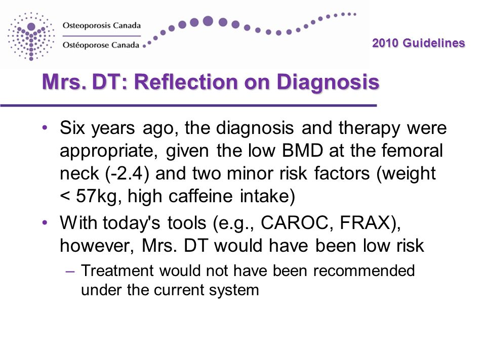 Mrs. DT: Reflection on Diagnosis