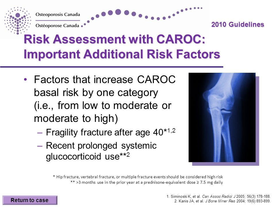 Risk Assessment with CAROC: Important Additional Risk Factors