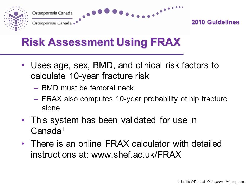 Risk Assessment Using FRAX