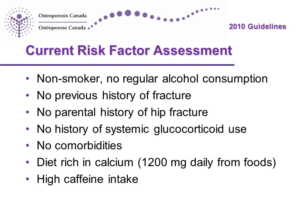 Current Risk Factor Assessment