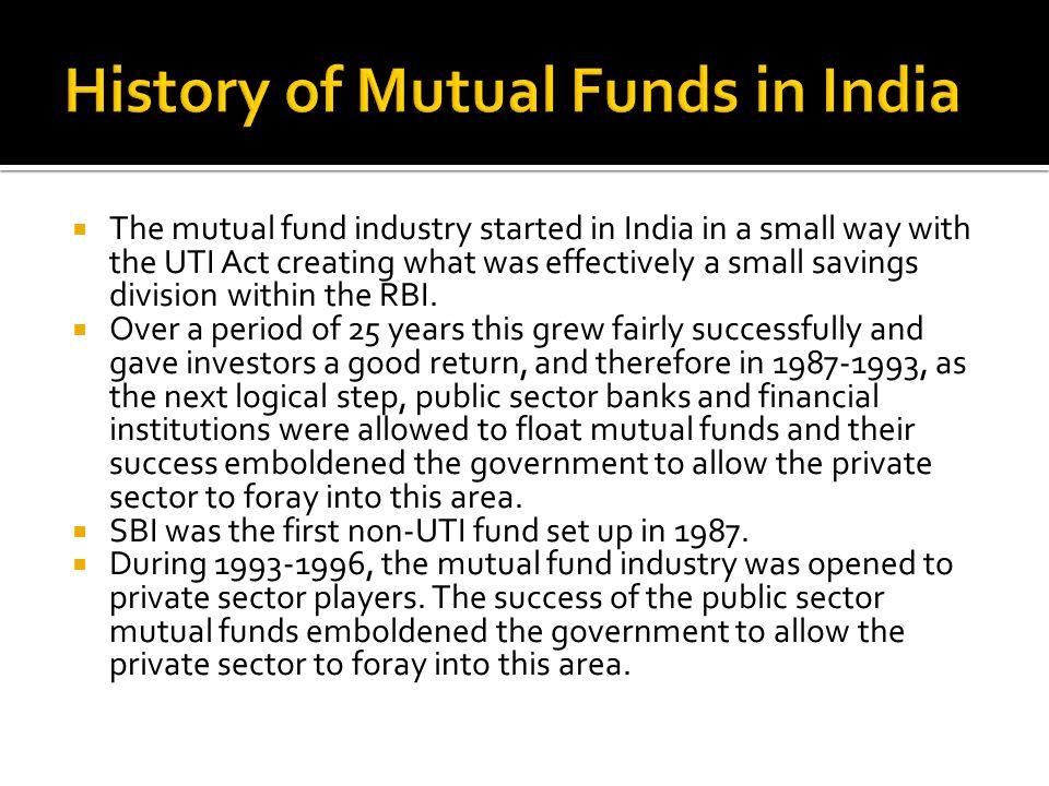 thesis on mutual fund in india