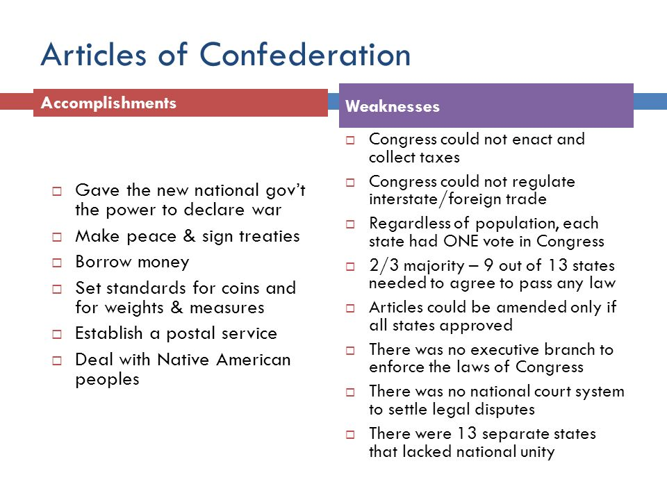 frq articles of confederation essay
