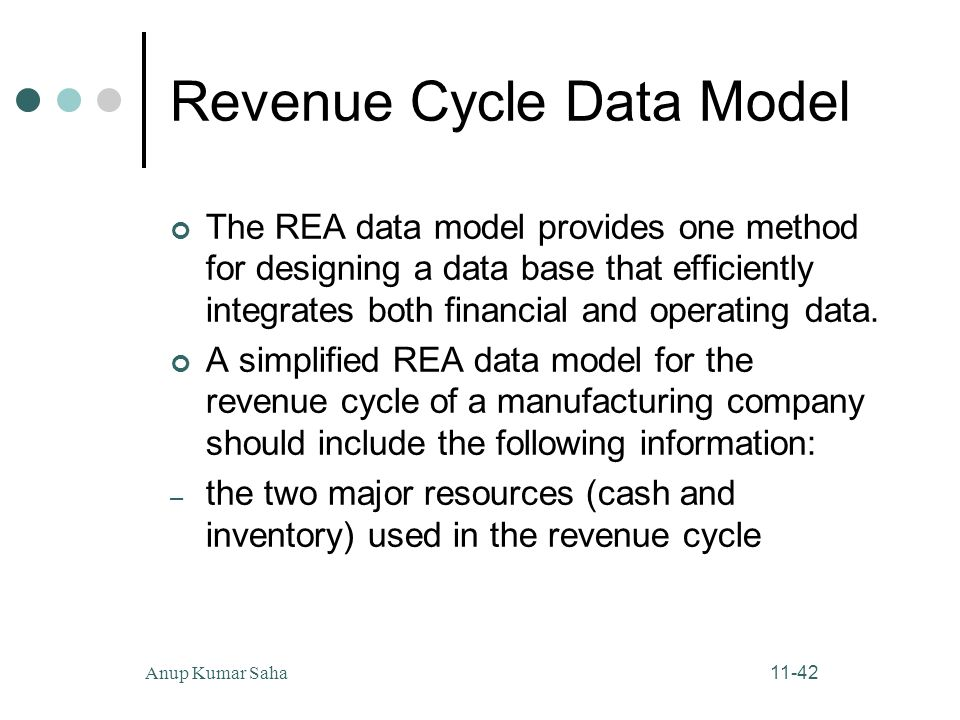 rea model revenue cycle This next section in the chapter explained how multiple rea diagrams (revenue cycle, purchases, cash disbursements, and payroll) are integrated into a global or enterprise-wide model the enterprise model was then implemented into a relational database structure and user views were constructed.