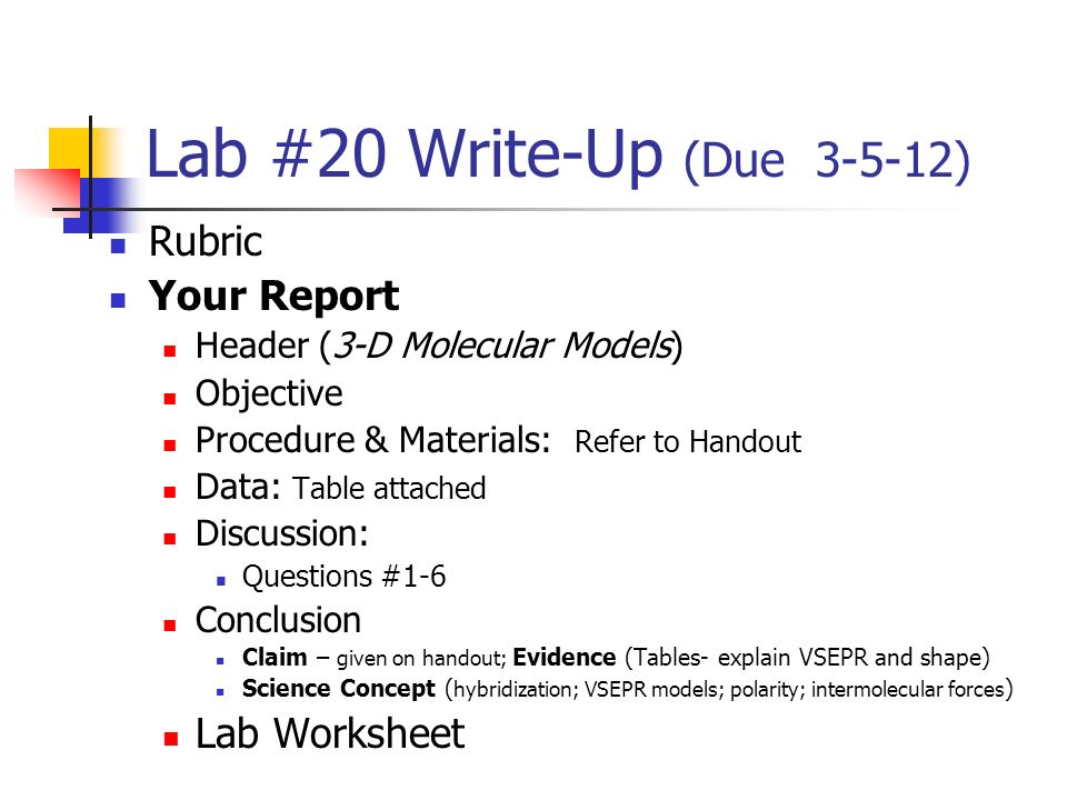 lab report format chemistry   ledger paper Date        How to write a lab report