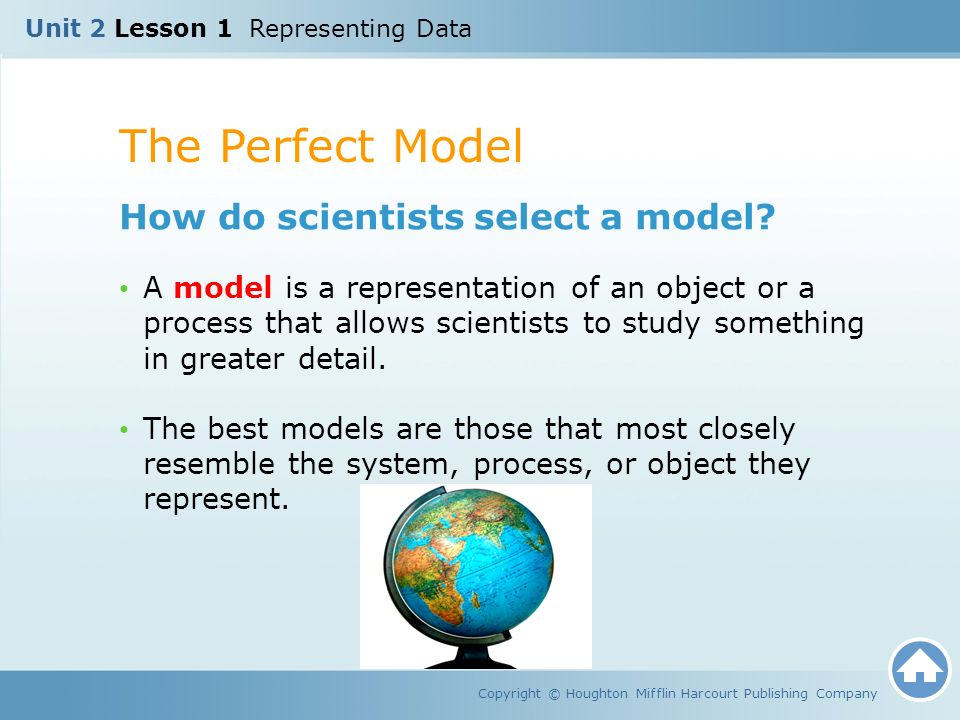 The Perfect Model How do scientists select a model