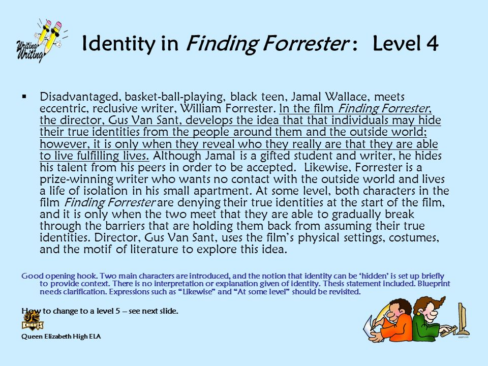 writing a thesis statement ppt identity in finding forrester level 4