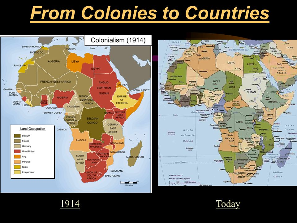 From Colonies to Countries
