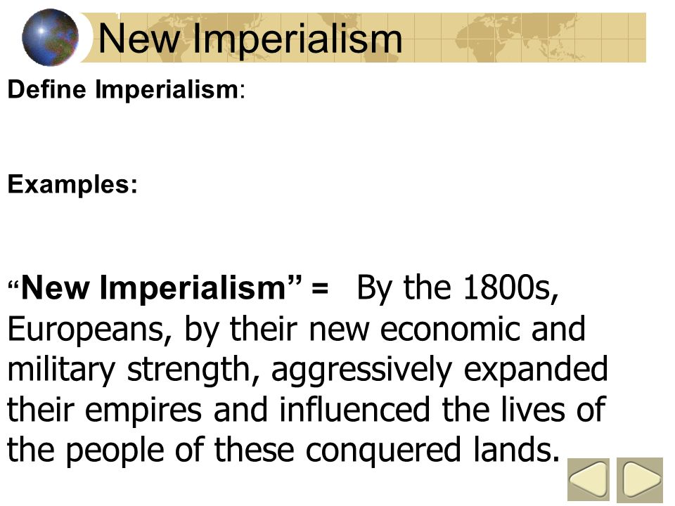 old vs new imperialism The new imperialism  european elites and the broad literate classes that the days of the old european balance of power were over, that a new world order was .