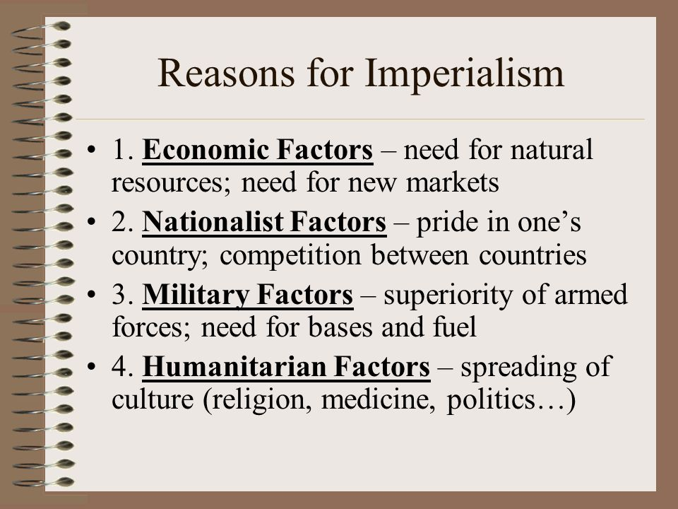 reasons for imperialism