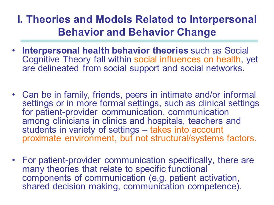 models and theories Five counseling theories and approaches june 01, 2015 by counseling staff psychotherapy theories provide a framework for therapists and counselors to interpret a.