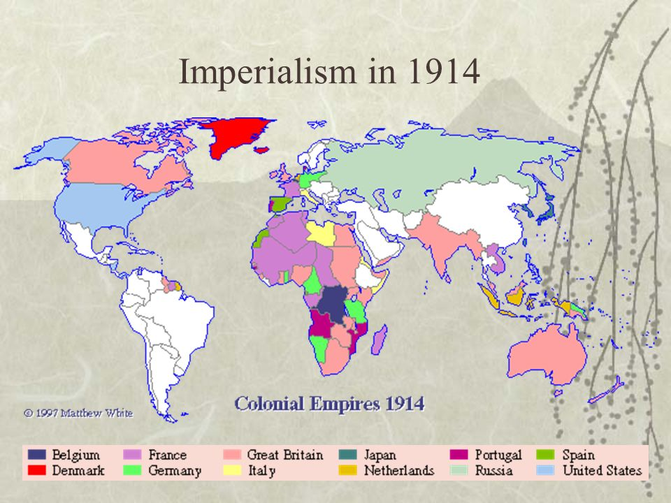 Imperialism: The takeover of a country or territory by a ...