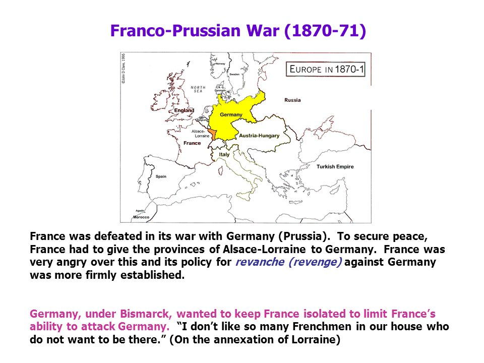 the role of dual alliance in the 1870 franco prussian war Franco-german war, also called franco-prussian war, (july 19, 1870–may 10, 1871), war in which a coalition of german states led by prussia defeated france the war marked the end of french hegemony in continental europe and resulted in the creation of a unified germany.